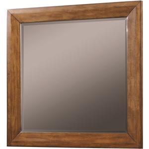 Wood-Framed Beveled Edge Landscape Mirror