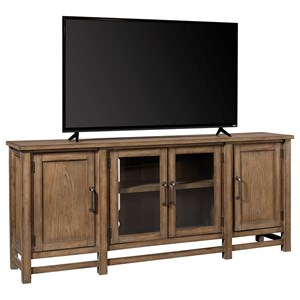 "Casual 75"" Console with Adjustable Shelves"
