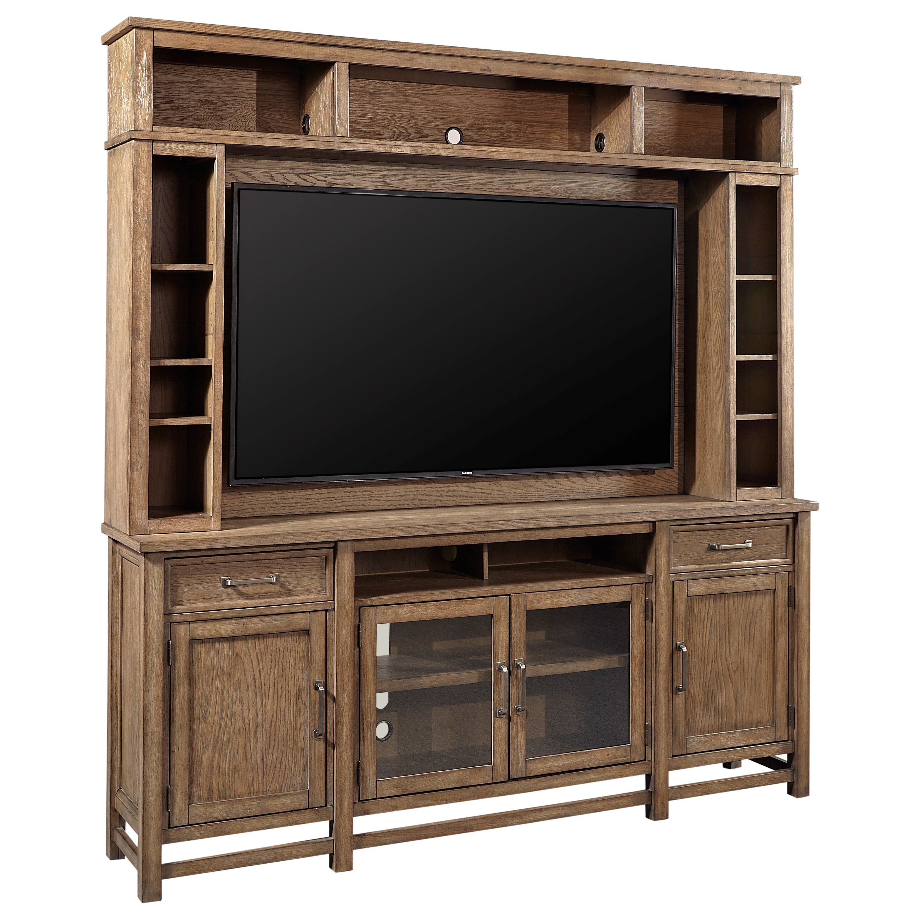 Terrace Point Entertainment Console and Hutch by Aspenhome at Walker's Furniture