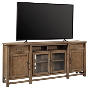 "Casual 84"" Console with Adjustable Shelves"