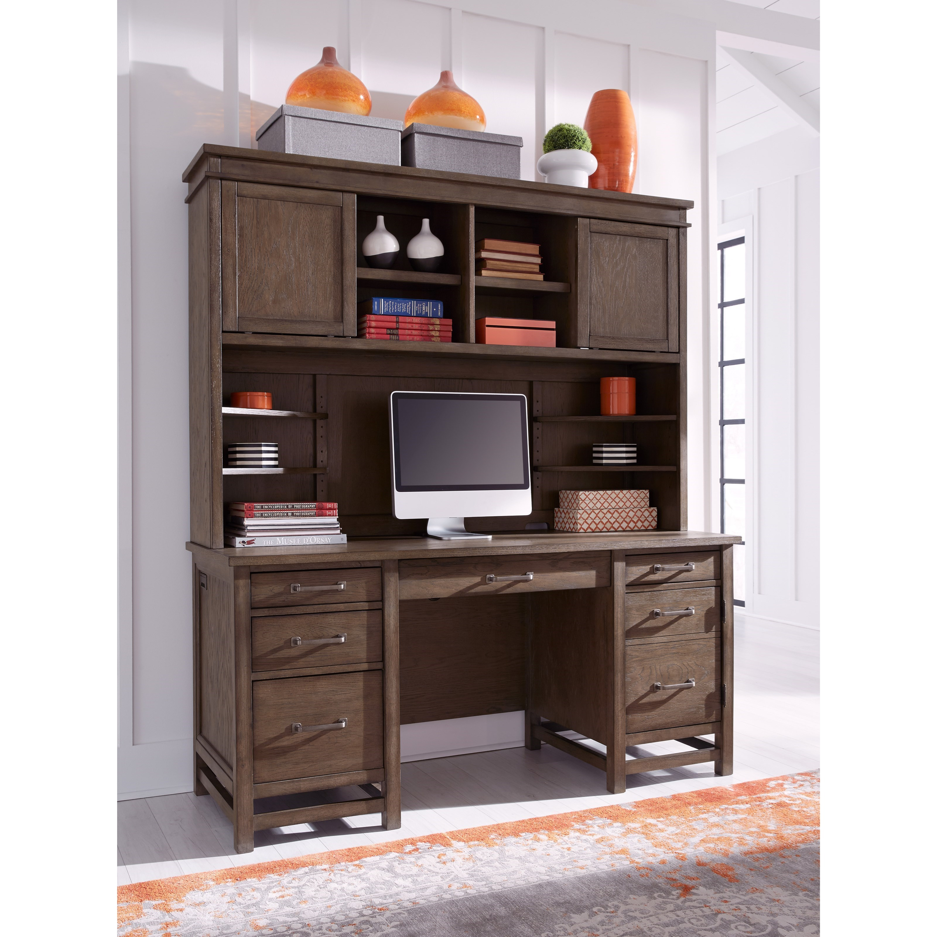 Terrace Point Desk and Hutch by Aspenhome at Baer's Furniture