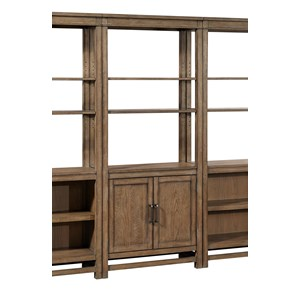 Casual Bookcase with Doors and Adjustable Shelves