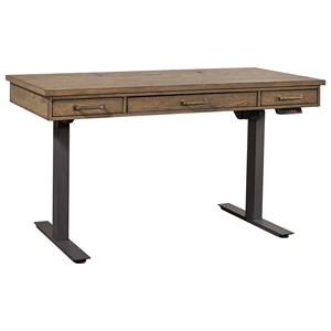 Casual Adjustable Desk with Outlets and USB Ports