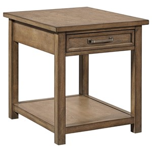 Casual End Table with Drawer