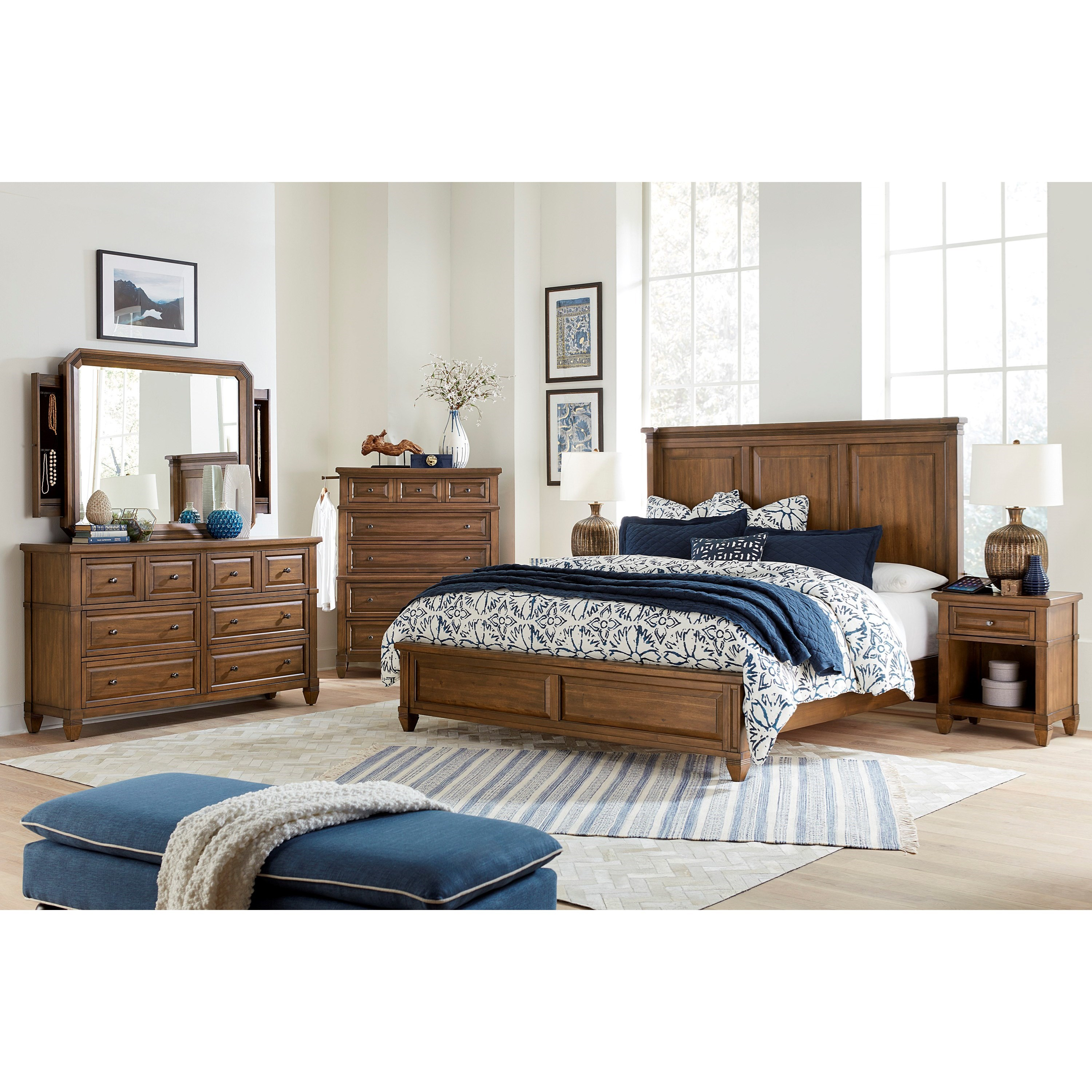 Thornton King Bedroom Group by Aspenhome at Walker's Furniture