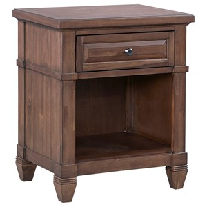 Transitional One Drawer Nightstand with Shelf