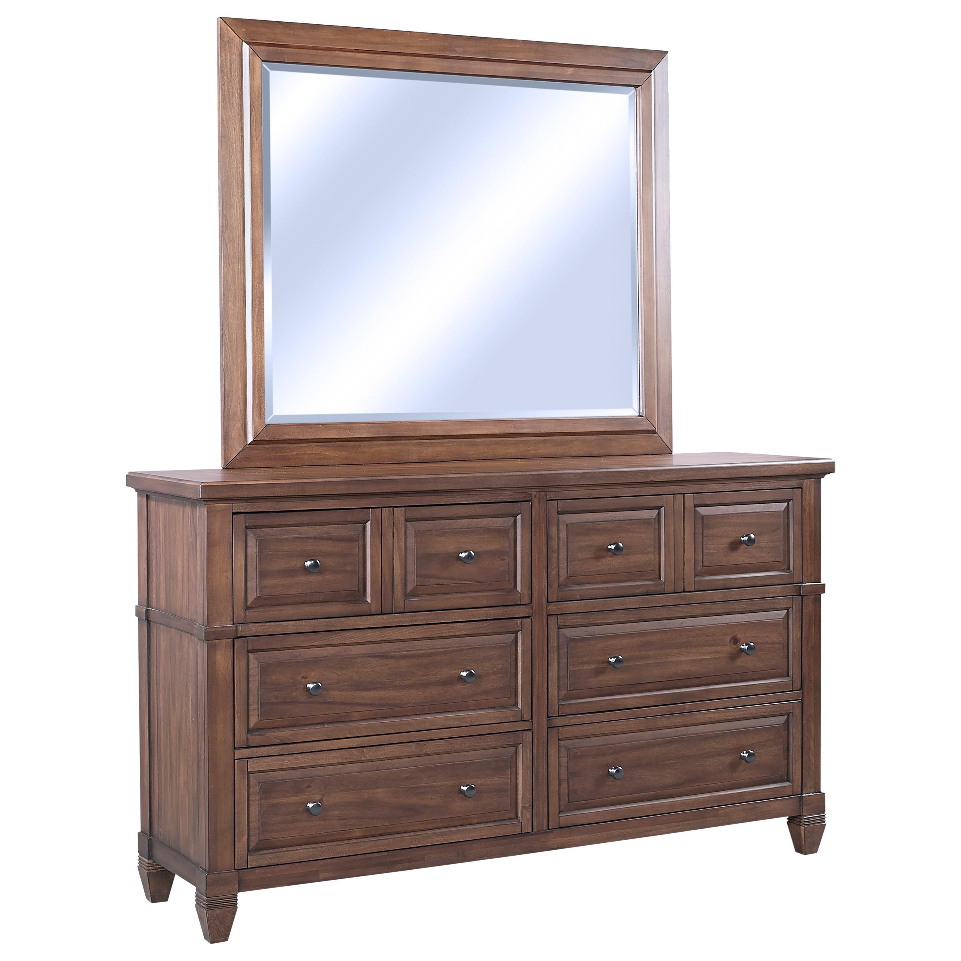Thornton Dresser + Mirror Set by Aspenhome at Walker's Furniture
