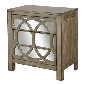 Liv360 Mirrored Nightstand with Two Drawers