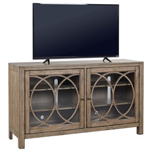 "60"" Library/Media Console with Trellis Fretwork Design"