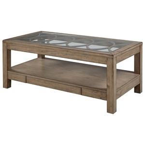 Rectangular Cocktail Table with Glass Top