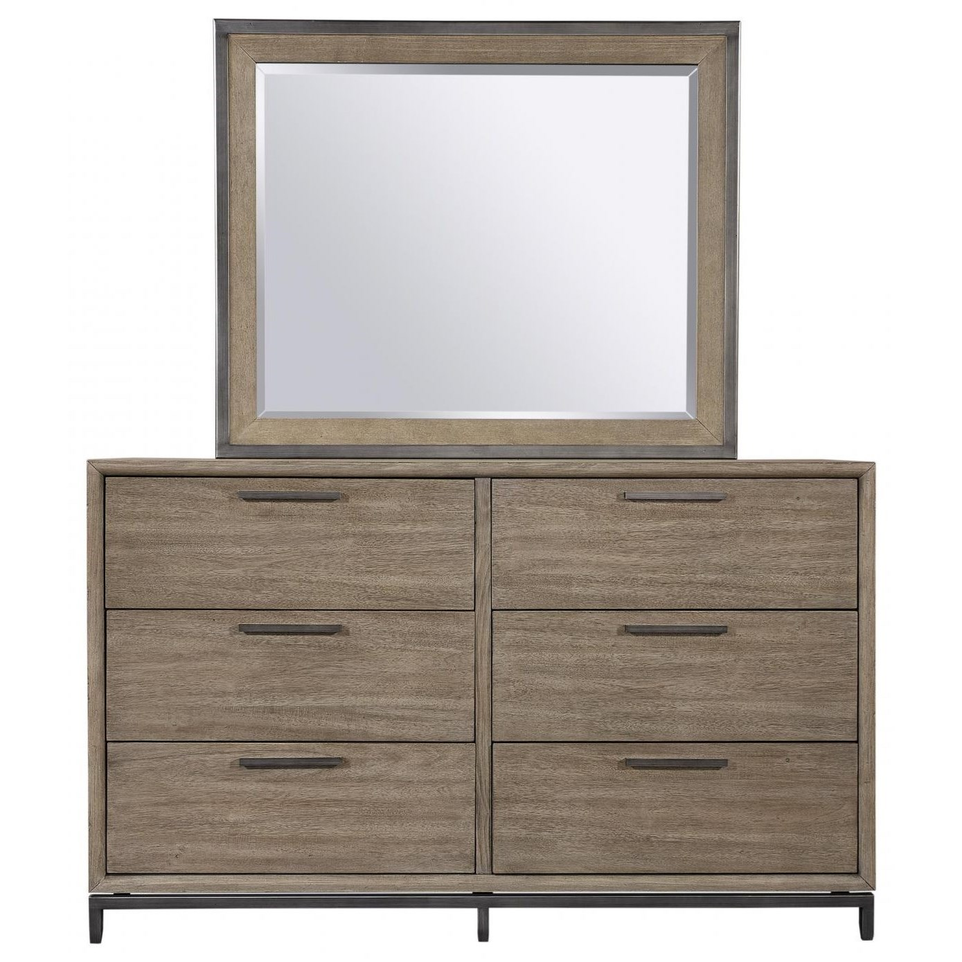 Trellis Dresser and Mirror by Aspenhome at Walker's Furniture