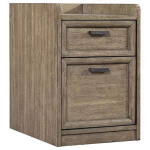 Transitional Rolling File Cabinet with Casters
