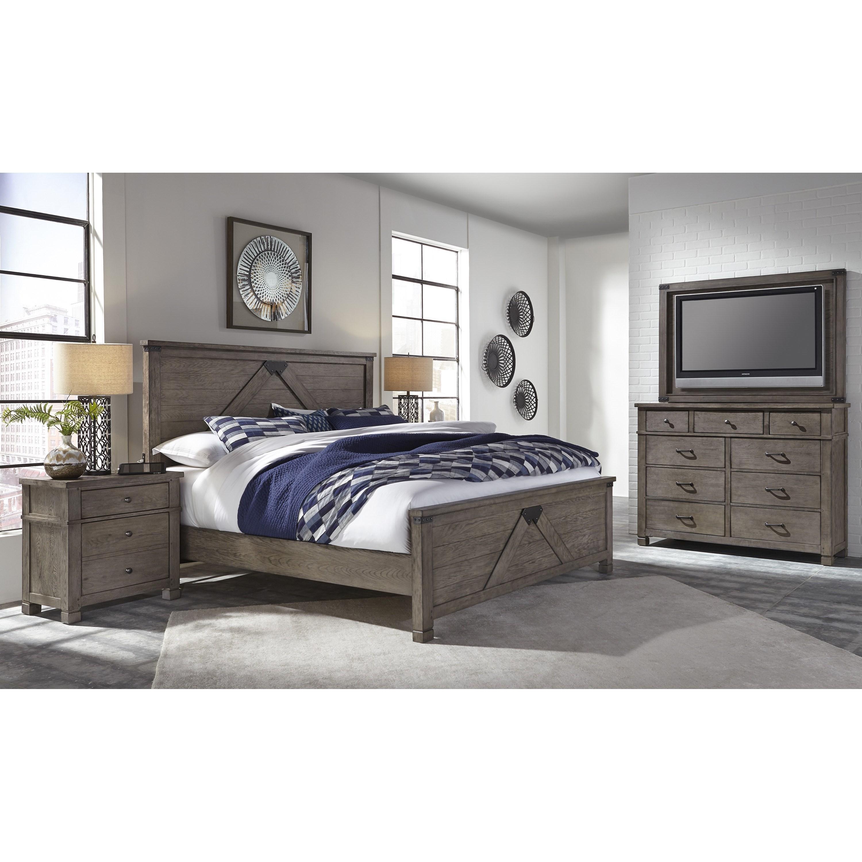 Tucker King Bedroom Group by Aspenhome at Walker's Furniture