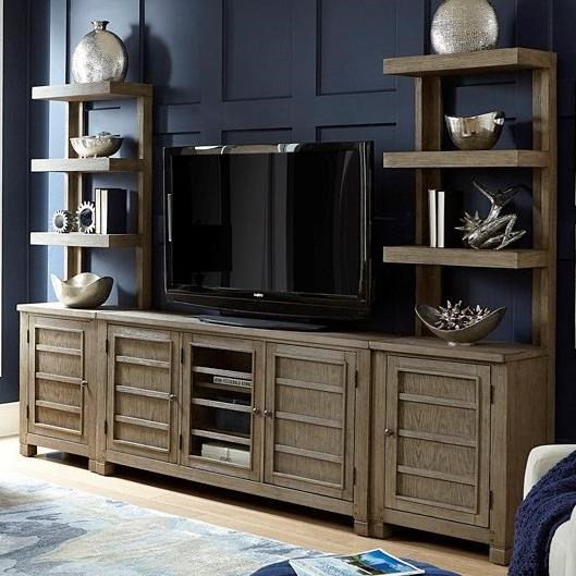 """Tucker 65"""" Console with Piers by Aspenhome at Walker's Furniture"""