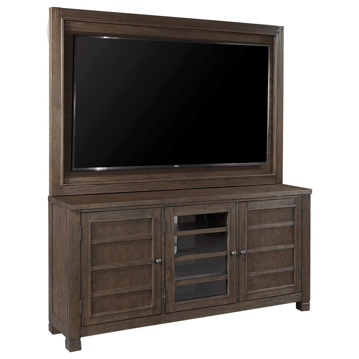"Tucker 65"" Console with TV Backer by Aspenhome at Walker's Furniture"