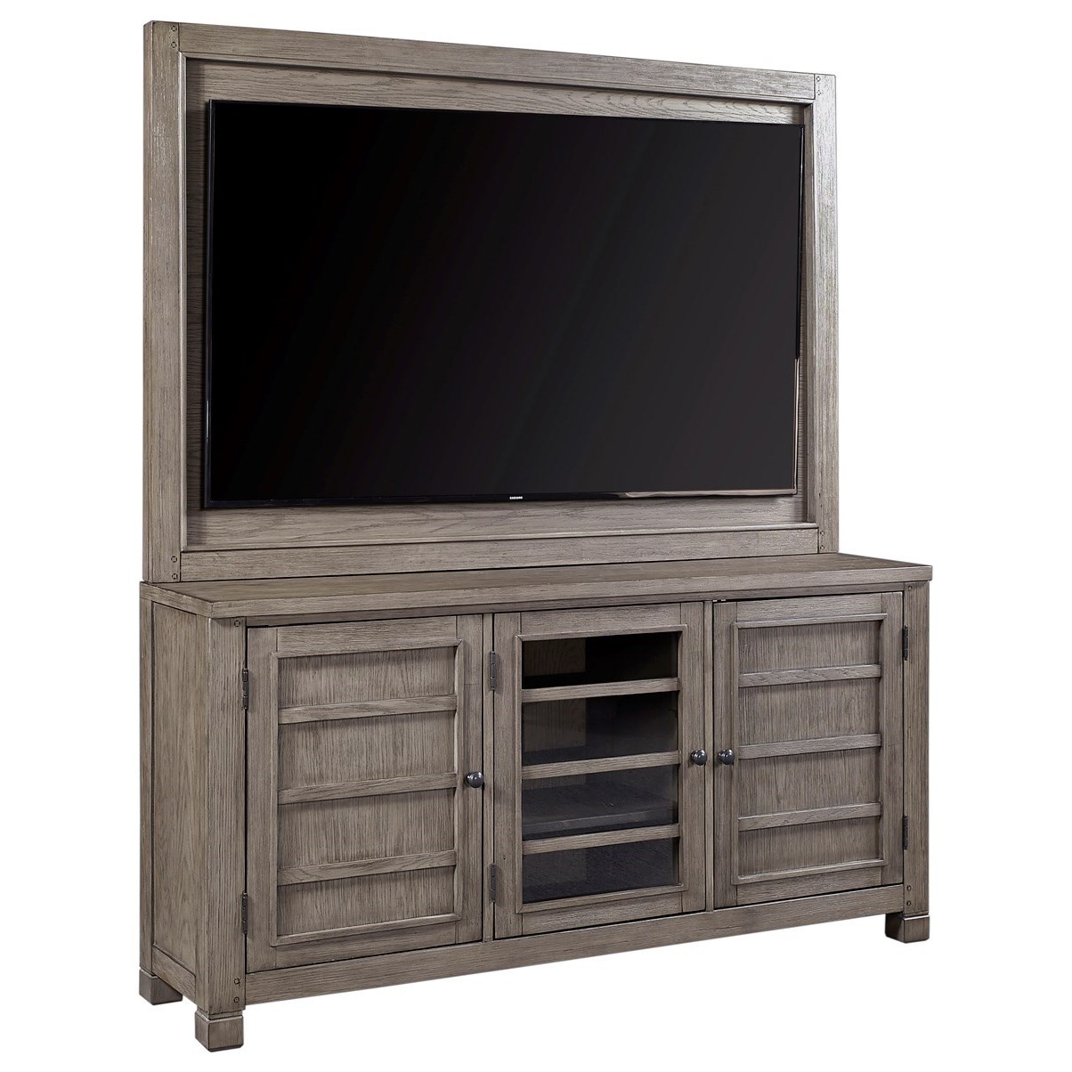 """Tucker 65"""" Console with TV Backer by Aspenhome at Walker's Furniture"""
