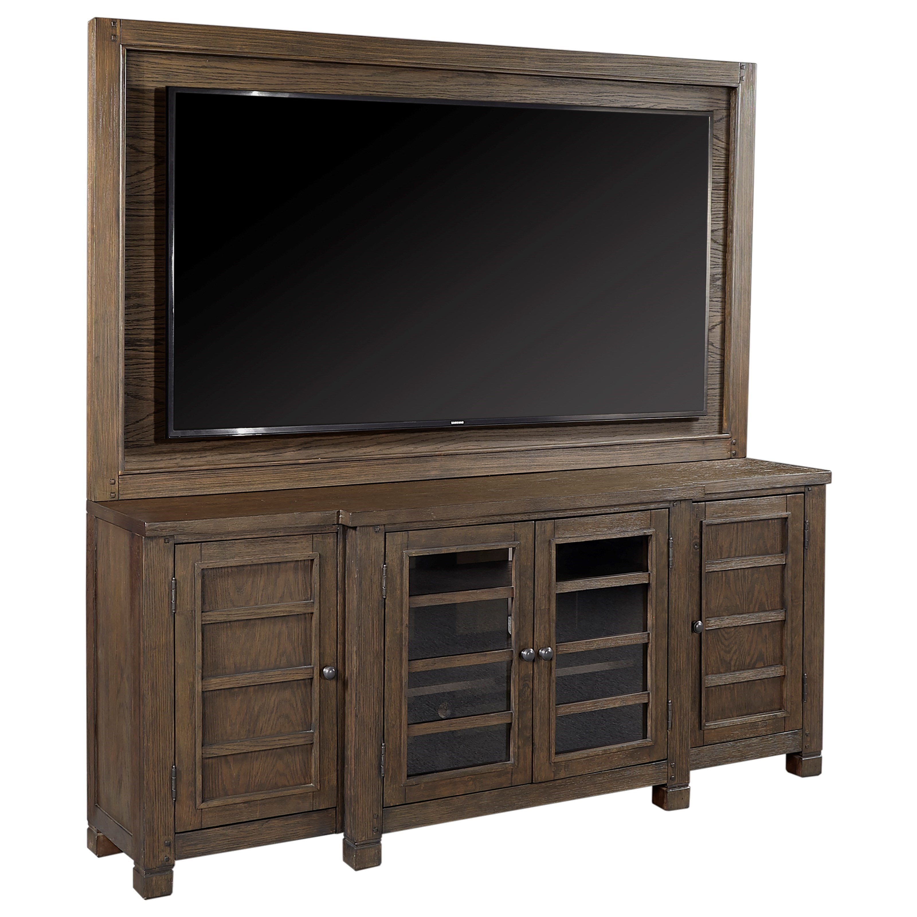 """Tucker 75"""" Console with TV Backer by Aspenhome at Baer's Furniture"""