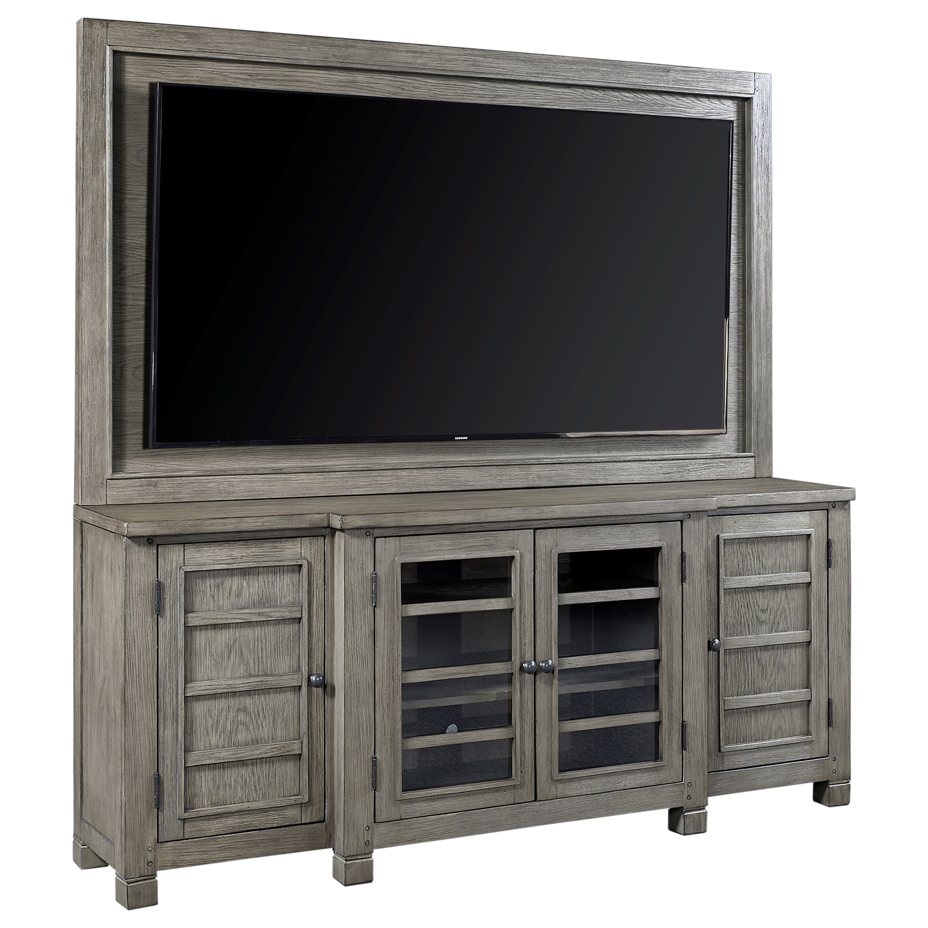 "Tucker 75"" Console with TV Backer by Aspenhome at Walker's Furniture"
