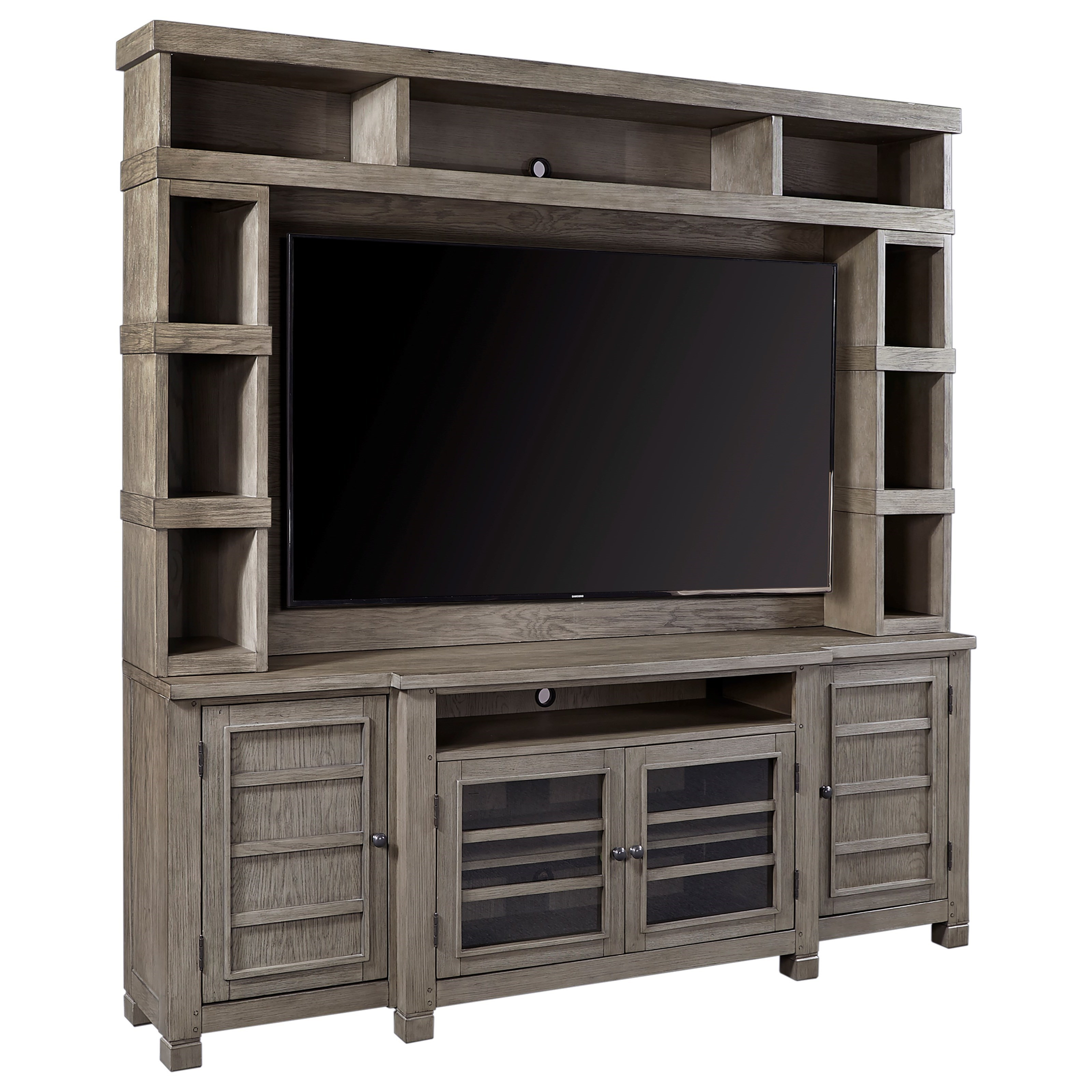 """Tucker 84"""" Console and Hutch by Aspenhome at Walker's Furniture"""