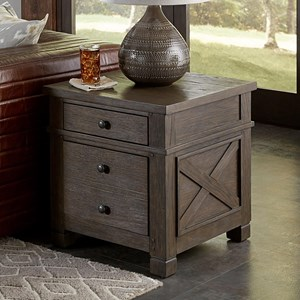 Transitional 2 Drawer End Table
