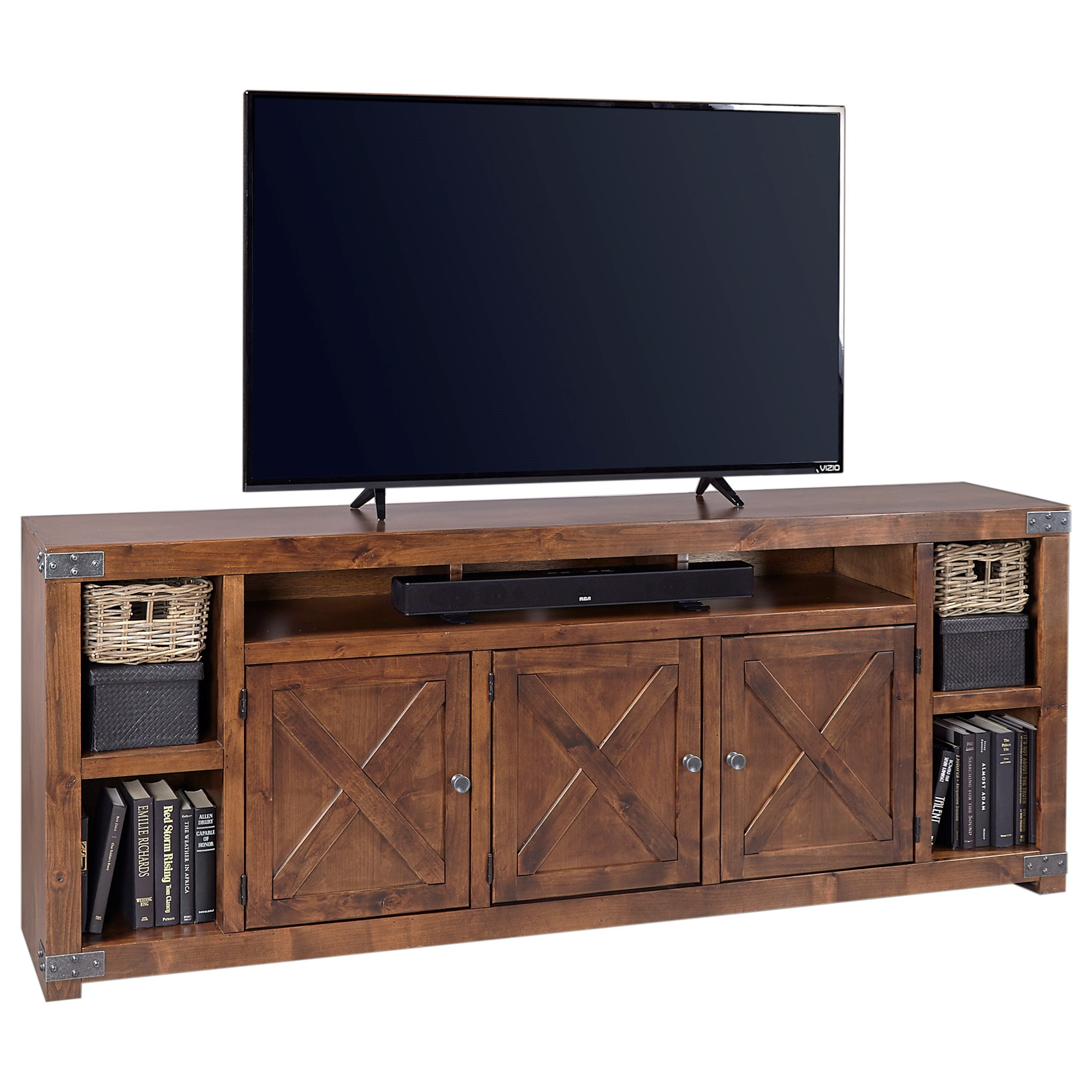 """Urban Farmhouse 84"""" Entertainment Console  by Aspenhome at Walker's Furniture"""