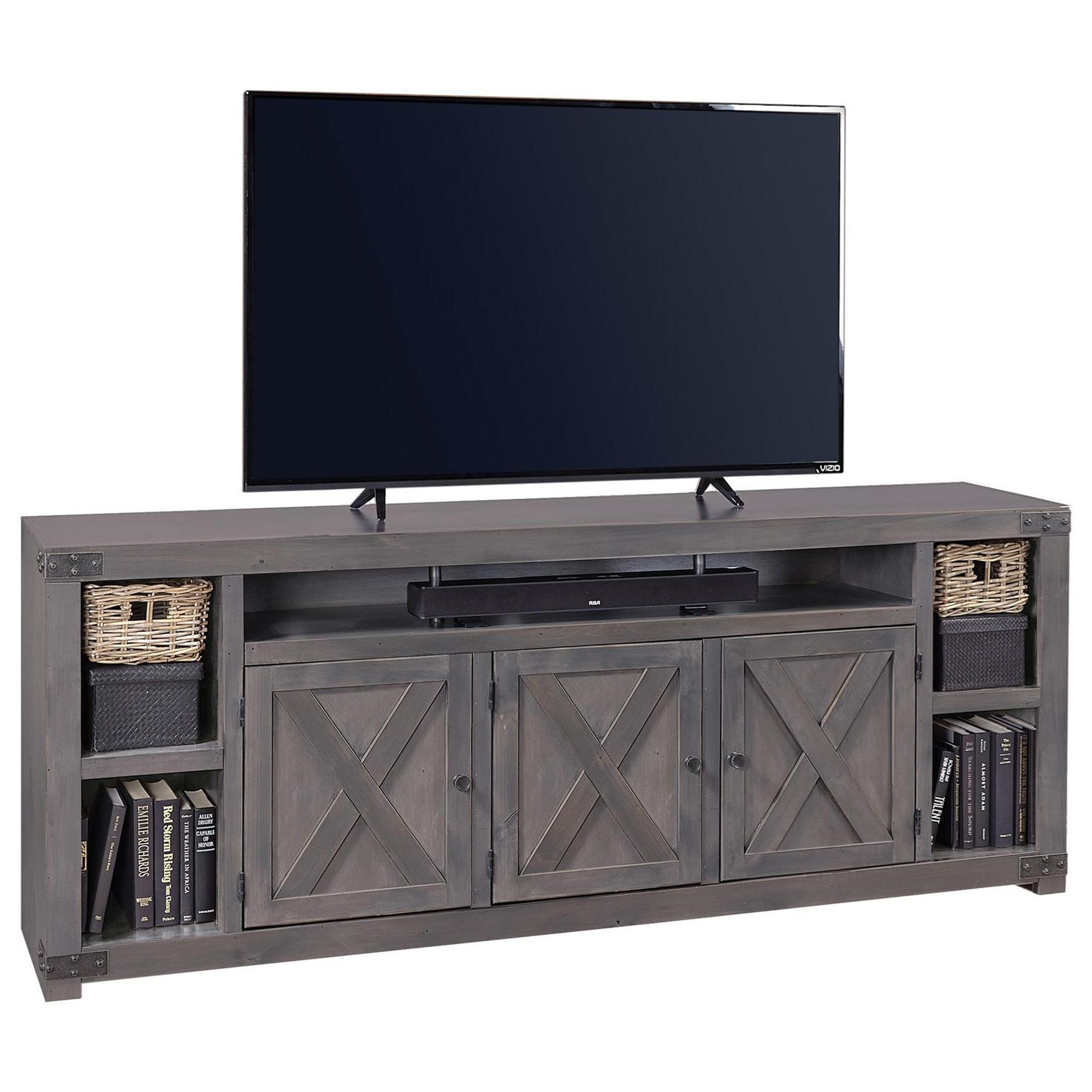 "Urban Farmhouse 84"" Entertainment Console  by Aspenhome at Baer's Furniture"