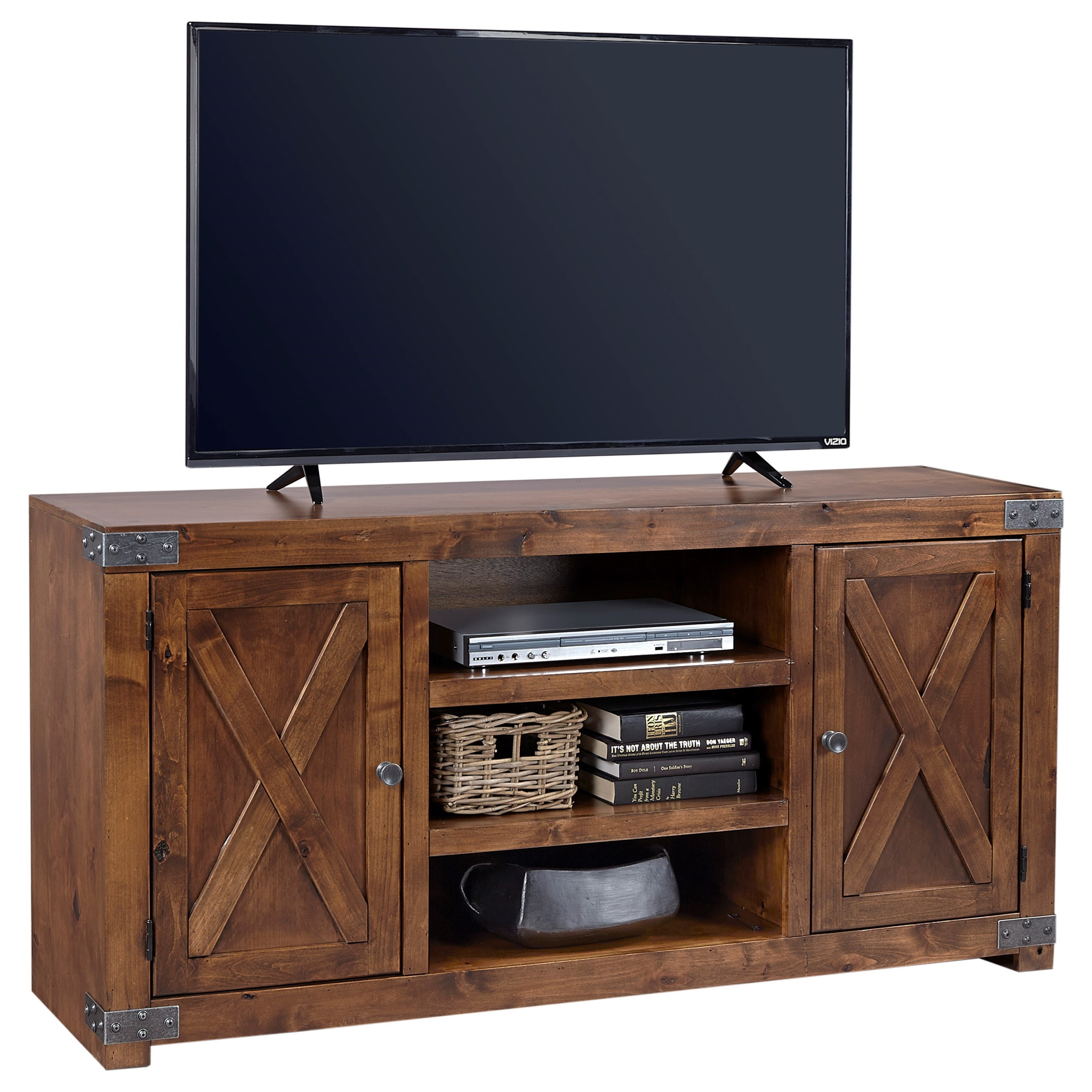 """Urban Farmhouse 60"""" Entertainment Console by Aspenhome at Walker's Furniture"""