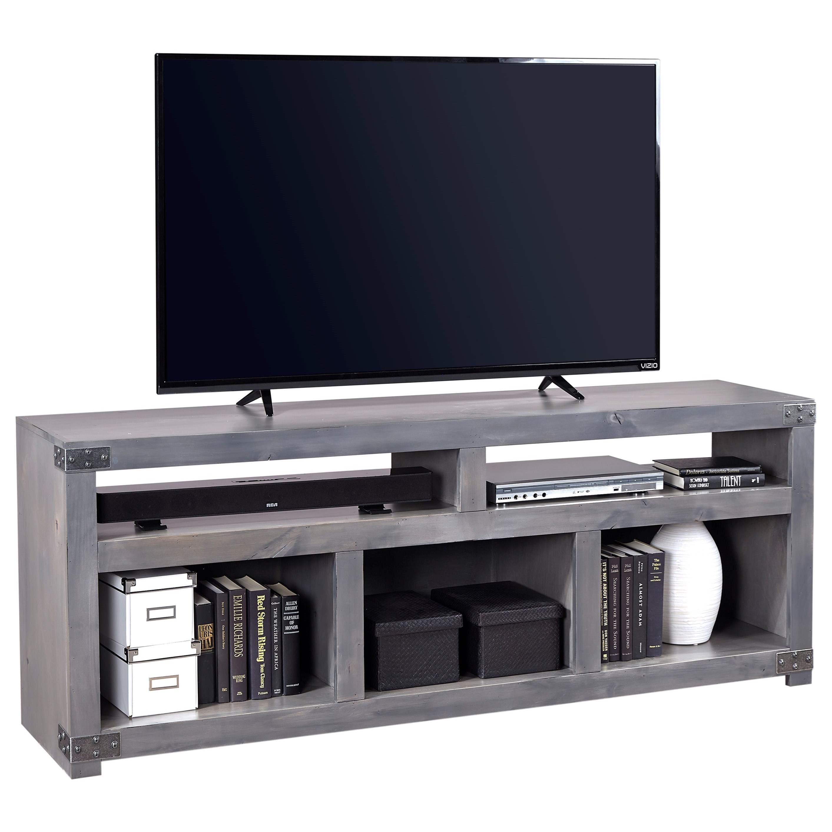"Urban Farmhouse 72"" Open Console  by Aspenhome at Walker's Furniture"