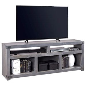 "72"" Open Console with 5 Compartments"