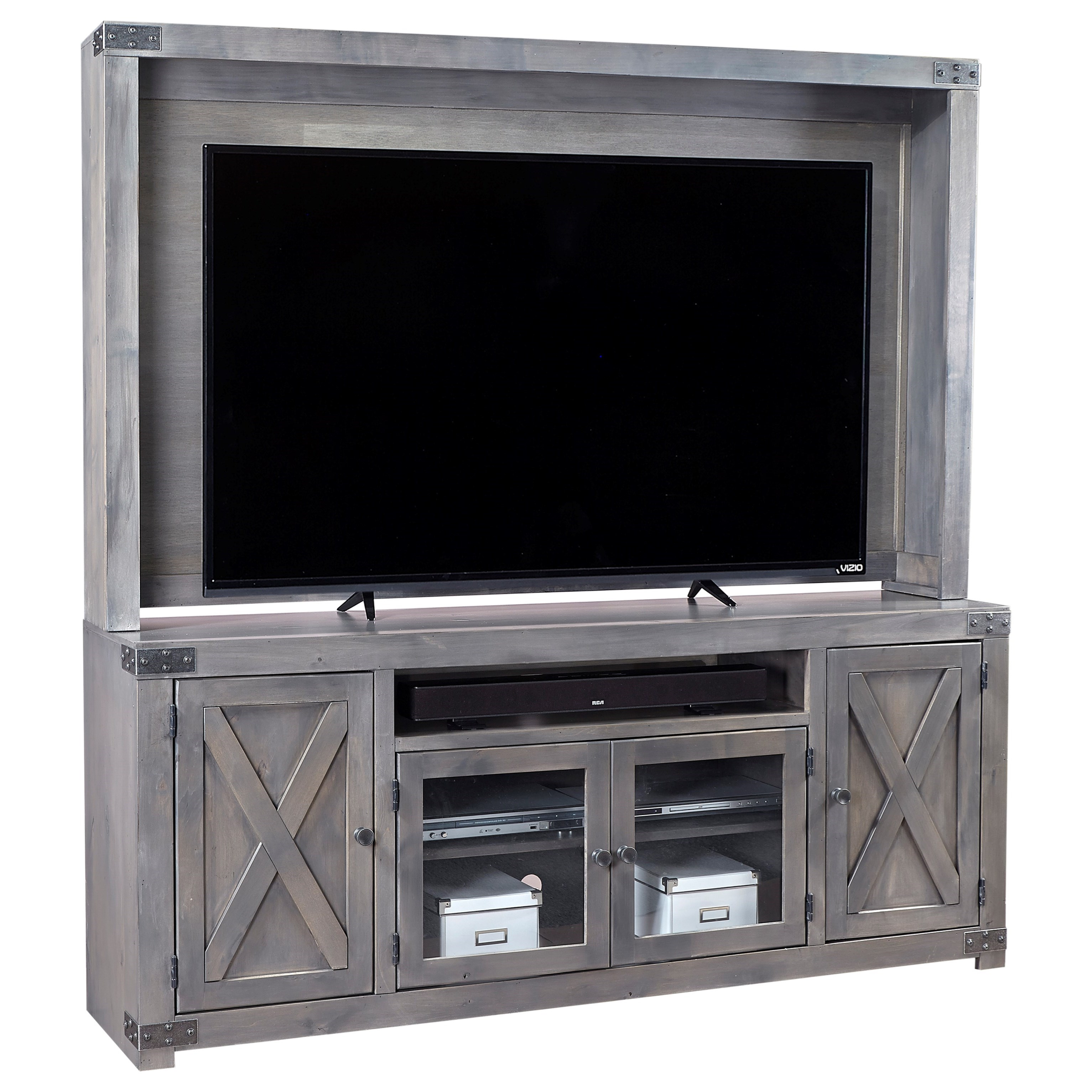 Urban Farmhouse Wall Unit by Aspenhome at Walker's Furniture