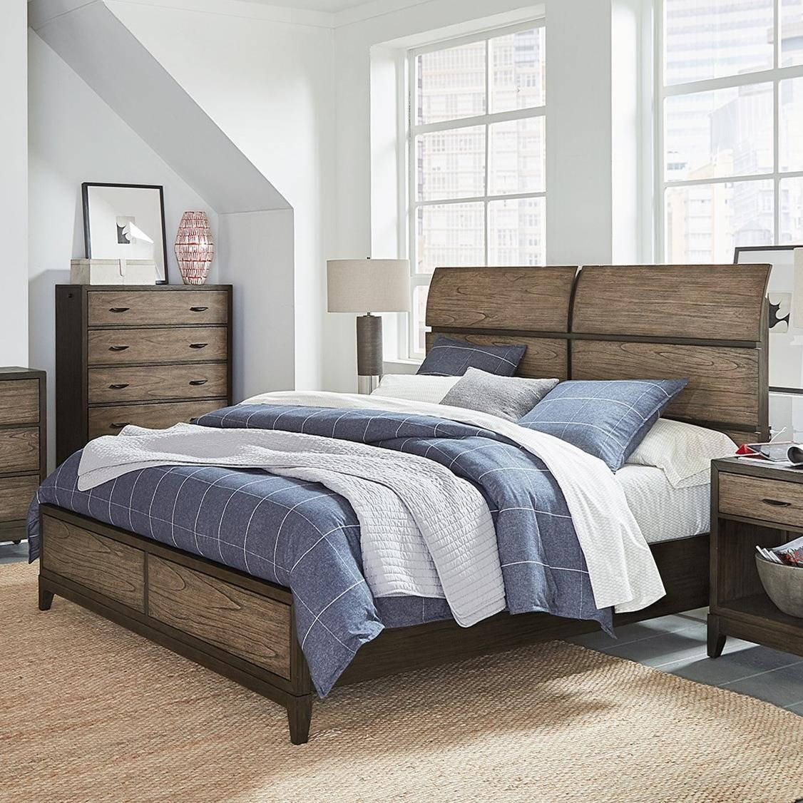 Westlake Queen Sleigh Bed by Aspenhome at Walker's Furniture