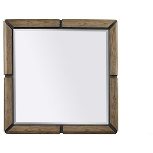 Transitional Square Mirror with Panel Frame