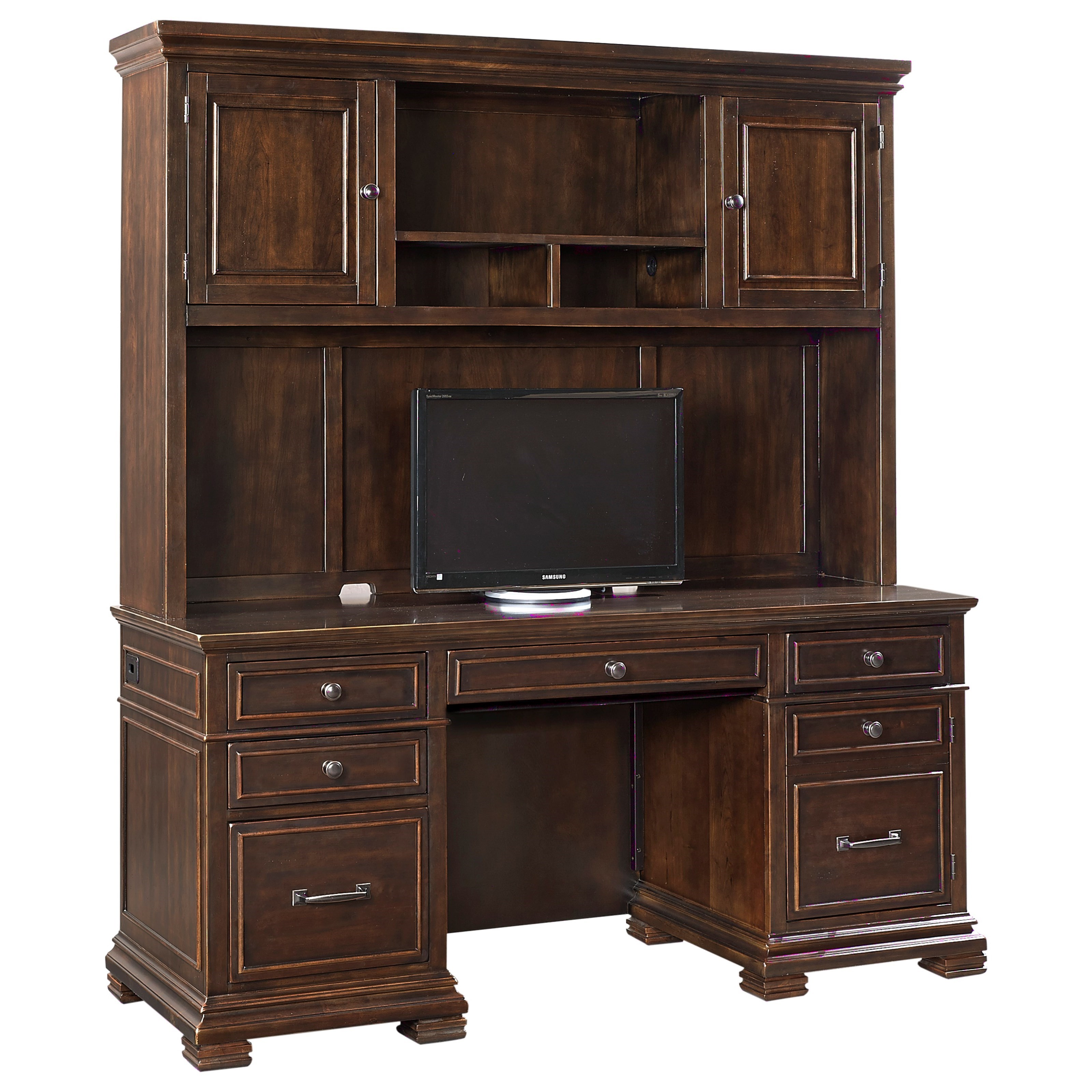 Birmingham Birmingham Credenza with Hutch by Aspenhome at Morris Home