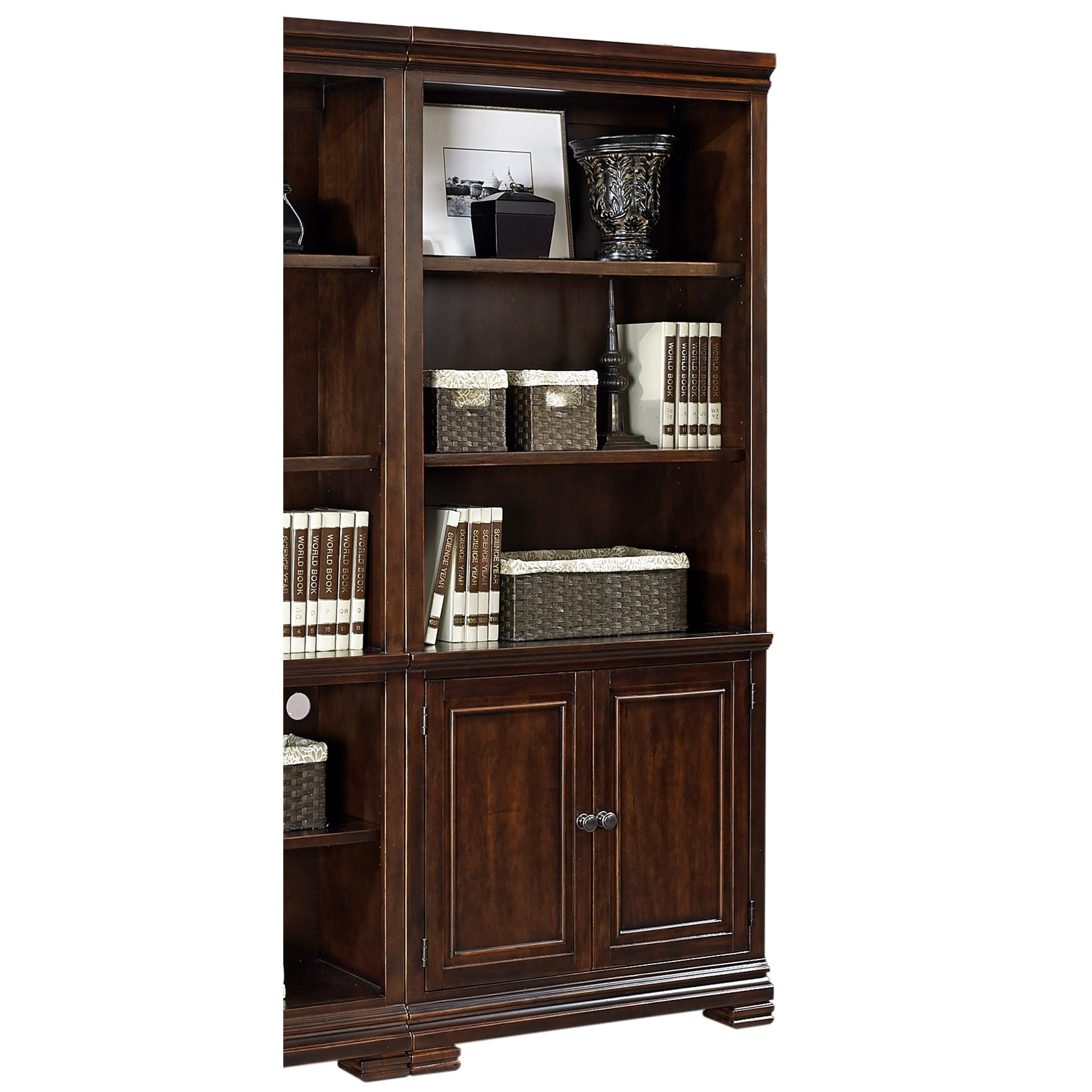Weston Door Bookcase by Aspenhome at Walker's Furniture