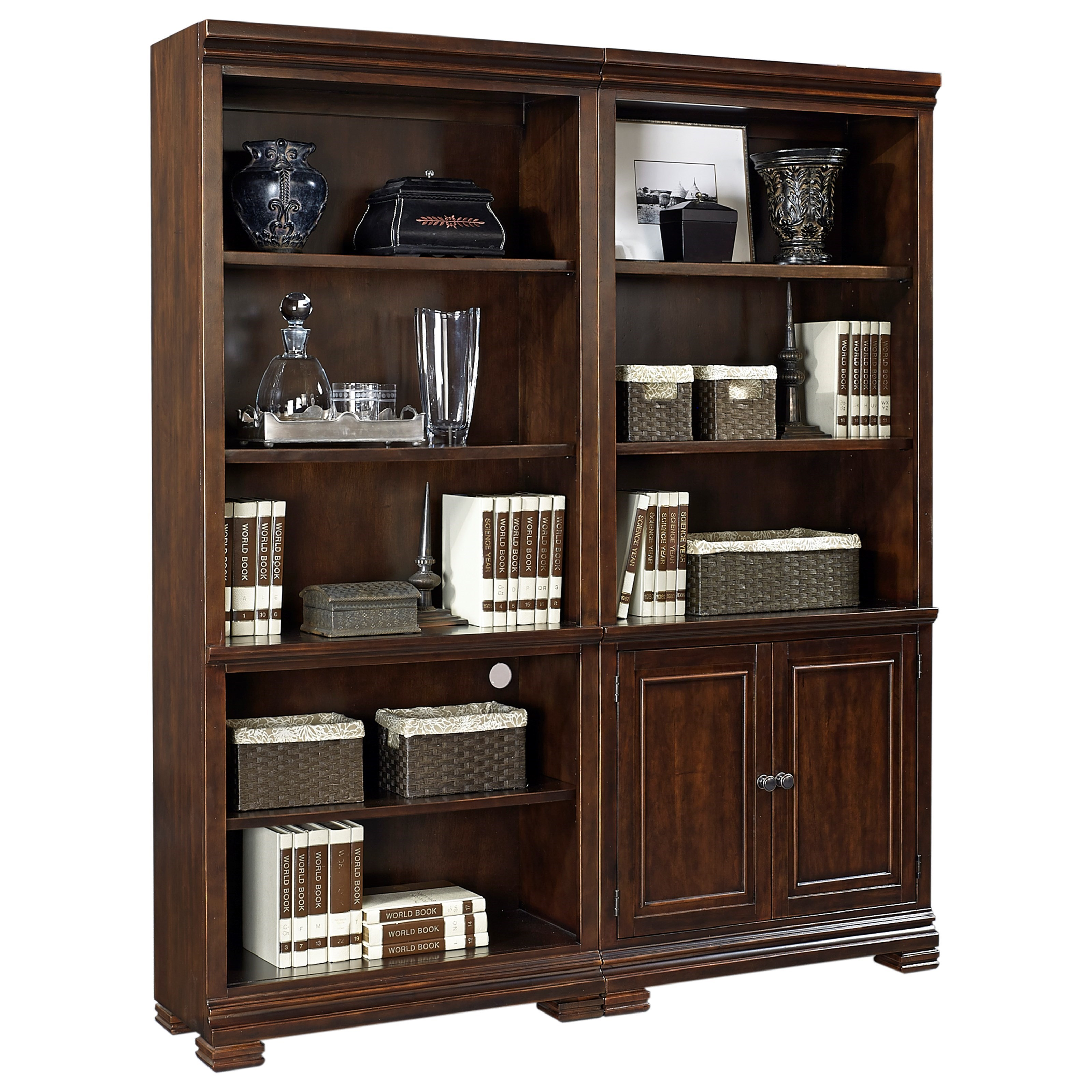 Weston Bookcase Wall by Aspenhome at Walker's Furniture