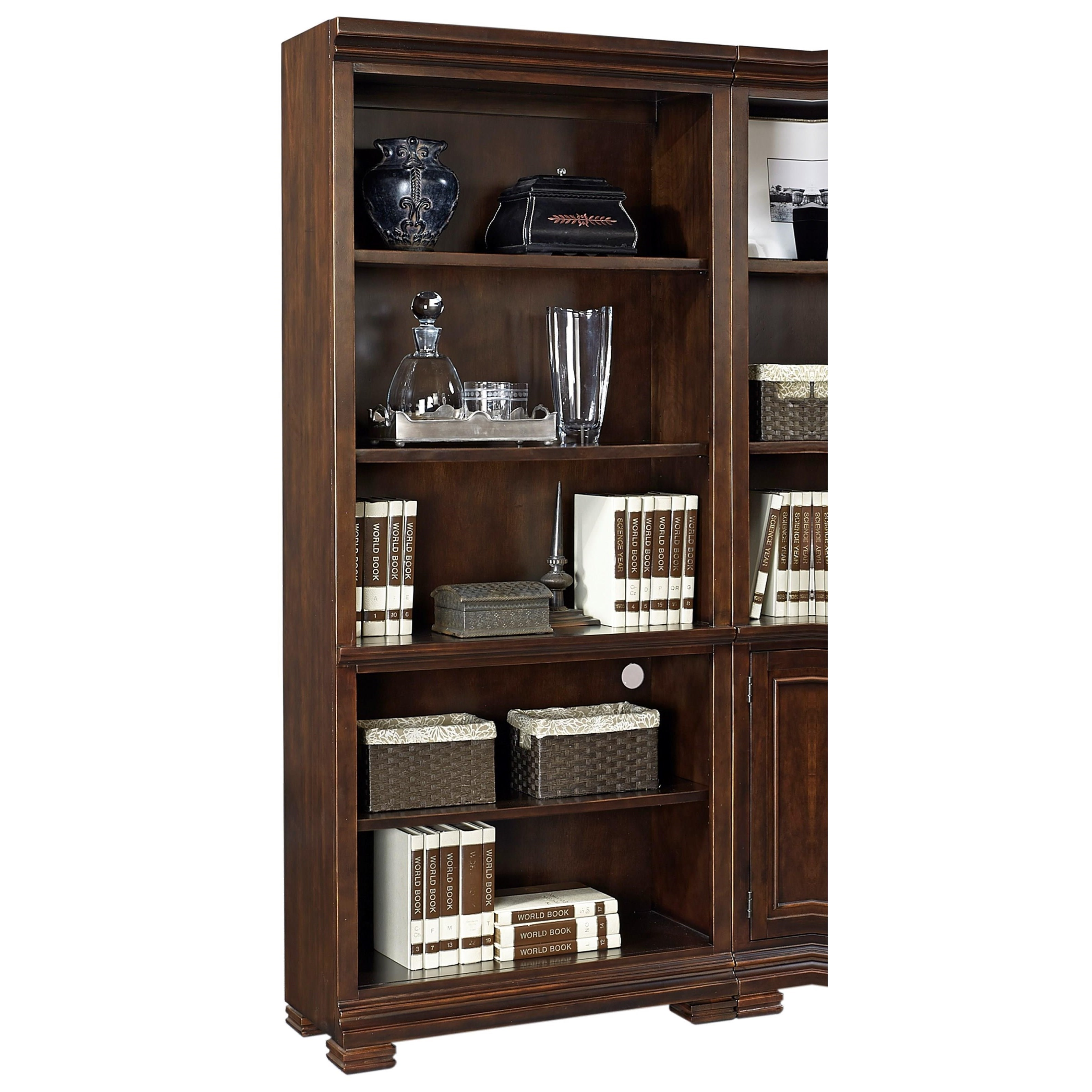 Weston Open Bookcase  by Aspenhome at Walker's Furniture