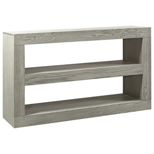 "Transitional 65"" 2-Shelf Open Console TV Stand"