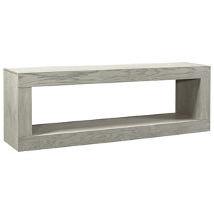 "Transitional 60"" Open Console TV Stand"