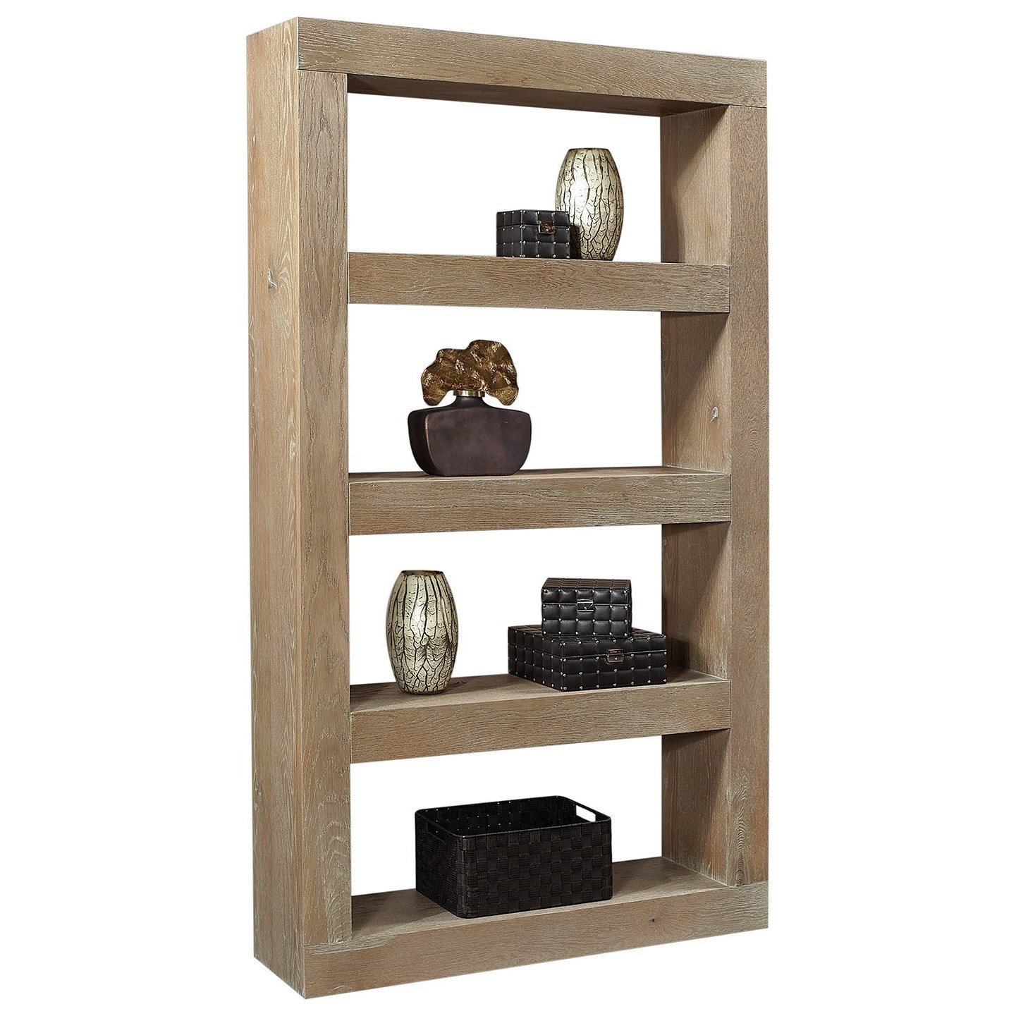Nova Oak Open Display Case by Aspenhome at Walker's Furniture
