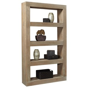 "Transitional 83"" Open Display Case with 4 Shelves"
