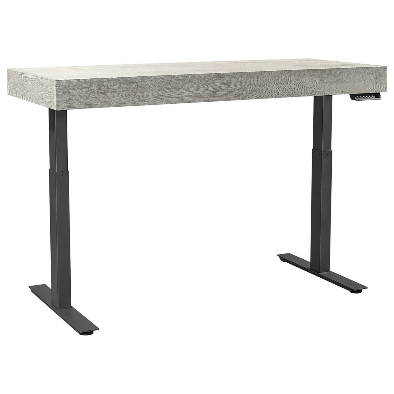 Nova Oak Adjustable Desk by Aspenhome at Walker's Furniture