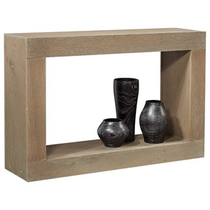 """Transitional 48"""" Console Table with Lower Open Shelf"""