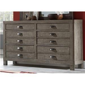 Austin Group Townsend Dresser with Hidden Jewelry Drawer
