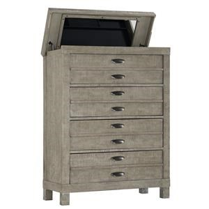Austin Group Townsend Lift Top Chest with Jewelry Tray & Mirror