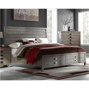 Contemporary King Storage Bed