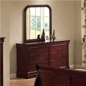 Austin Group Bordeaux  Dresser & Mirror Combo