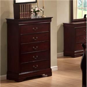 Austin Group Bordeaux  Chest of Drawers