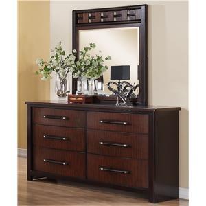 Austin Group Cavalier Dresser and Mirror Combination