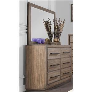 Dresser with Beveled Mirror