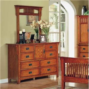 Austin Group La Mesa Dresser & Mirror Combo